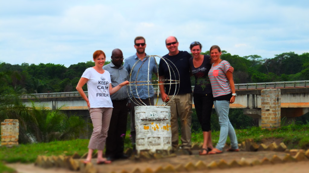 Our team stopped to take a photo at the equator // Makoua, Congo