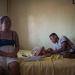 Fitia and family at their home