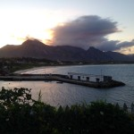 The old port in Fort Dauphin at sunset