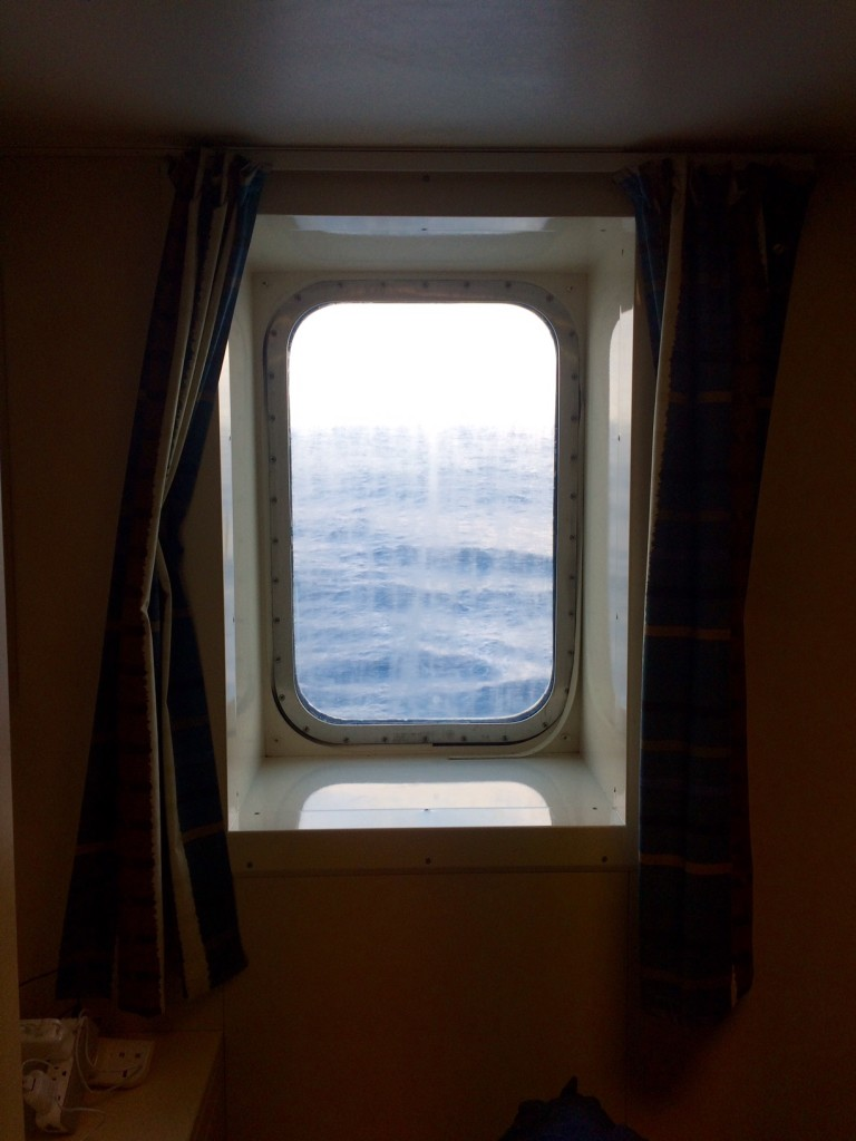 A mid sailing view from my cabin window.  That's right, after many years with Mercy Ships I now have a cabin with a window.  And even better, it's a single berth!